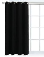 Mainstays Faux Suede Black Window Panel
