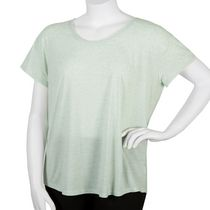 George Plus Women's Scoop Neck T-Shirt Turquoise 1x