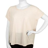 George Plus Women's Scoop Neck T-Shirt Pink 2XL