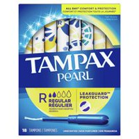 Tampax Pearl Plastic Regular Absorbency Tampons