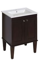 American Imaginations 24 inch width x 18 inch depth Transitional Birch Wood-Veneer Vanity Set In Antique Walnut