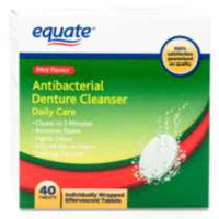 Equate Daily Care Antibacterial Denture Cleanser 40 tablets