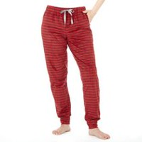 George Women's Plush Pant Red L/G