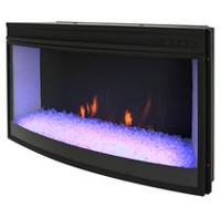 "Muskoka 33"" Widescreen Curved Firebox with color rotation ember bed effect - NO HEAT"