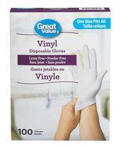 Great Value Vinyl Disposable Gloves