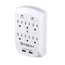 CJ Tech 6 Outlet 2 USB 2.1 Amp Wall Tap