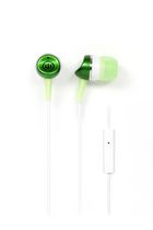 Wicked Audio Metallics Earbud Headphones with Mic Green