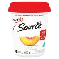 Yoplait Source Peach Yogurt