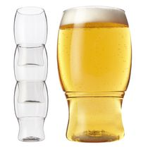 Tossware Shatterproof Stackable Ice Tea/Beer Glasses