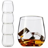 Tossware Shatterproof Stackable Scotch Glasses