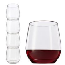 Tossware Shatterproof Stackable Vino Glasses