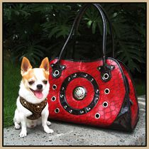 Cool Runners Faux Red & Black Leather Pet Carrier