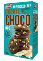 Choco Duo Cookies with White Chocolate Chunk and Cocoa