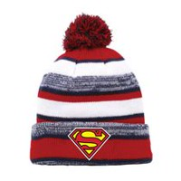 Superman Men's Cuff Pompom Beanie