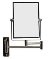 American Imaginations 5 inch width x 13 inch height Rectangle Chrome Wall Mount Magnifying Makeup Mirror With Dual 1x/5x Zoom