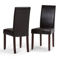 WyndenHall Normandy 2 Pack Parson Dining Chair Tanners Brown