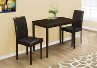 Monarch Specialties Cappuccino Dining Set
