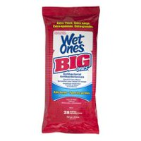 Wet Ones Big Ones Antibacterial Fresh Scented Hand and Face Wet Wipes