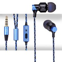 Mental Beats Xclusive Metal Earbuds with Mic Blue