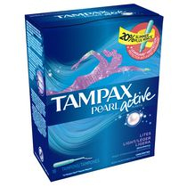 Tampax Pearl Active Plastic Light Absorbency Tampons