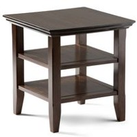 WyndenHall Normandy End Side Table Dark Brown