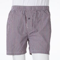 George Men's Woven Boxer Shorts Burgandy 2XL