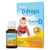 Baby Ddrops® Liquid Vitamin D3 Vitamin Supplement, 400 IU