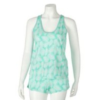 George Women's Shorts & Tank Sleep Set Turquoise L