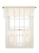 Macrame tier and valance