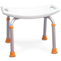 Profilio Adjustable Bath and Shower Chair with Non-Slip Seat, White