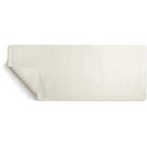 Profilio Non-Slip Bath Mat with Invigorating Massage Zones, Regular Size, White