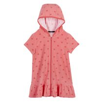 George Girls' Hooded Cover up Coral XL/TG