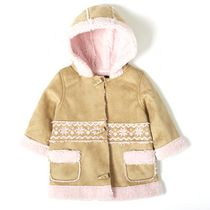 George baby Girls' Faux Suede Coat Taupe 12-18 months