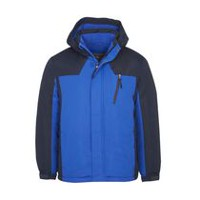 Athletic Works Men's Colour Blocked Snowboard Jacket Blue M