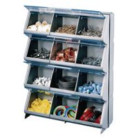 Stack-On 12 Bin Clear View Organizer