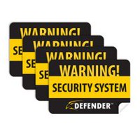 Defender®4 Pack of Window Warning Stickers with UV fade Protection