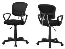 monarch specialties black office chair