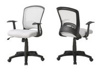Monarch Specialties  Black  Office Chair White