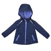 Athletic Works Girls' Hooded Bonded Jacket Navy M