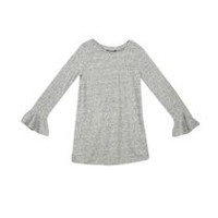 George Girls' Flutter Sleeve Tunic Grey L