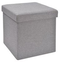 "hometrends 15"" Grey Collapsible Storage Cube"