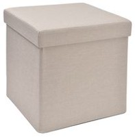 "hometrends 15"" Oatmeal Collapsible Storage Cube"