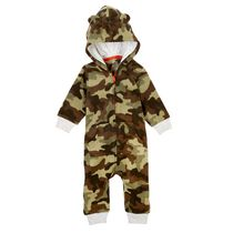 George Infant Boys' Hooded Romper Green 3-6 months