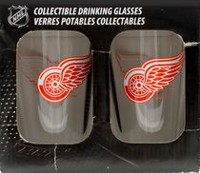 NHL Detroit Red Wings 16oz. Mixing Glasses