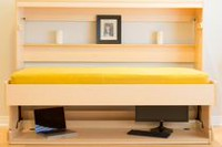 Smart Spaces Hiddenbed Convertible 2-in-1 Murphy Wall Bed and Desk Chocolate