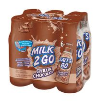 Milk 2 Go 1% M.F. Partly Skimmed Chillin' Chocolate Milk Bottle