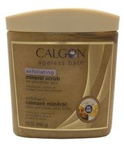 Calgon Ageless Bath Exfoliating Mineral Scrub for Smoother Skin