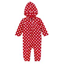 George Infant Girls' Microfleece Hooded Romper Red 12-18 months