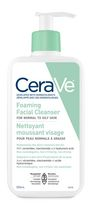 CeraVe® Foaming Facial Cleanser (355mL) with niacinamide, ceramides, and hyaluronic acid