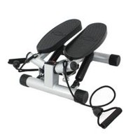 Sunny Health & Fitness Twisting Stair Stepper with Resistance Bands